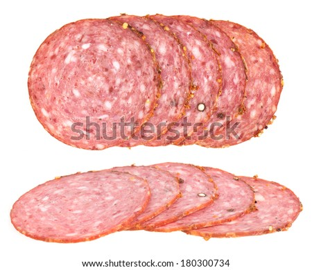 Few pieces of sausages  - stock photo