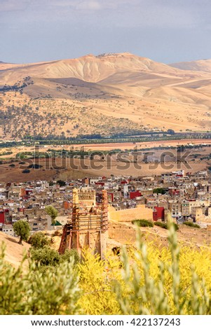 FEZ, MOROCCO - SEP 9, 2015: Architecture of Fez, the second largest city of Morocco. Fez was the capital city of modern Morocco until 1925 and