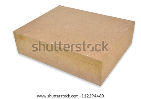 fiber board gift box on white background