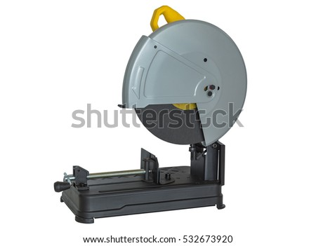 Fiber cutting machine , power tools  on  white background.