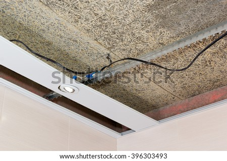 fiber mat suspended ceilings and electrical wiring