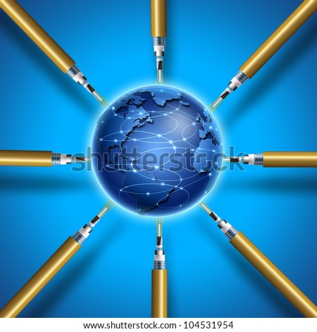 fiber optic - stock photo