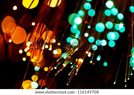 fiber optic abstract background - stock photo