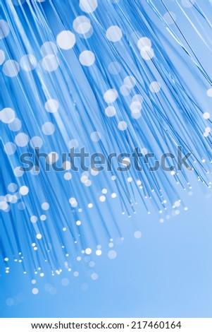 Fiber optics close up - stock photo
