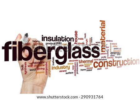 Fiberglass word cloud concept - stock photo