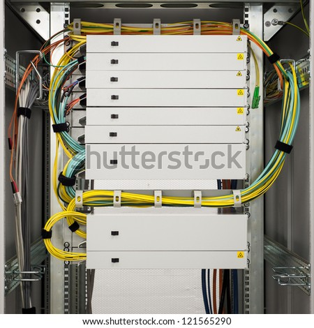 Fibre Channel Rack Trays High Speed Stock Photo (Royalty Free ...