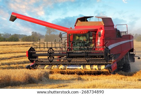 Field and harvester