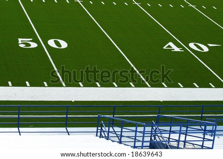 Field and Stadium - stock photo
