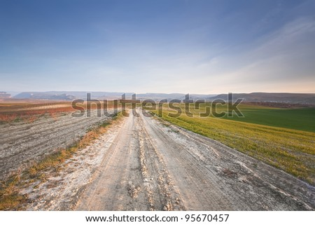 Field dirt road