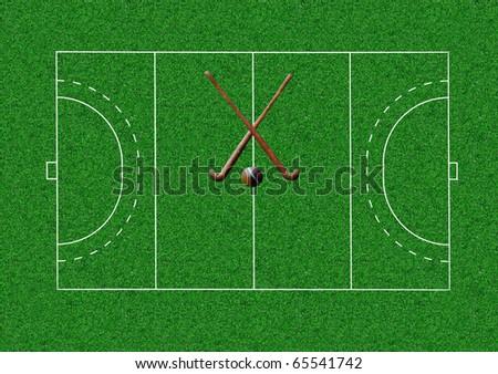 Field Hockey stadium - stock photo