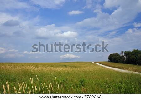 Field,Sky,Road - stock photo