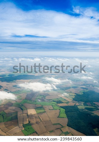 field view form the plane - stock photo