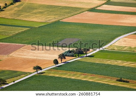 Fields from the air - stock photo
