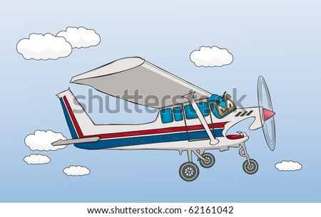 Fierce Airplane - Raster Version - stock photo