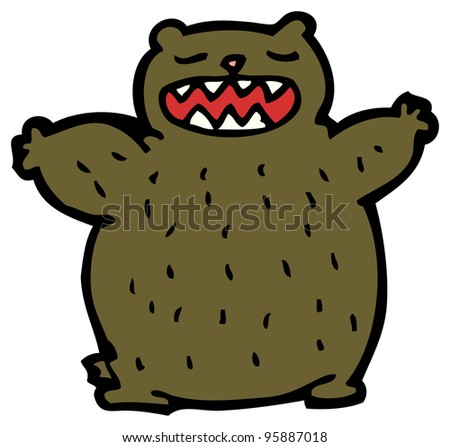 fierce bear cartoon