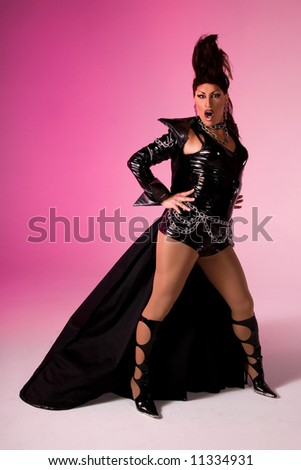 Fierce Drag queen. - stock photo