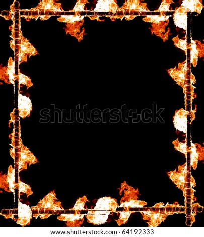 Fiery a framework - stock photo