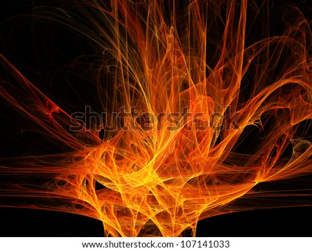 Fiery abstract background. 3d digital generated this image
