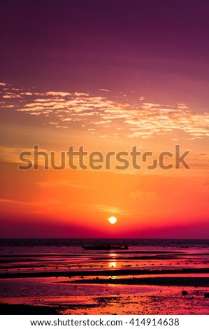 Fiery Backdrop Idyllic Wallpaper  - stock photo