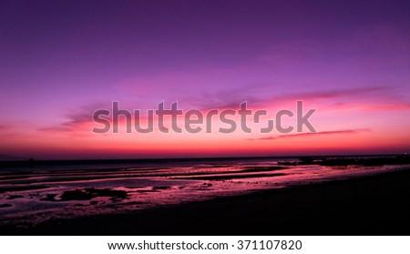 Fiery Backdrop Sunset Glow  - stock photo