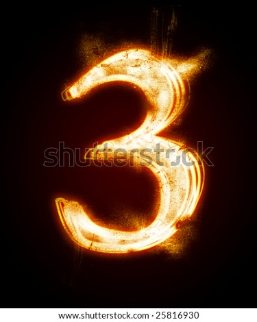 fiery font from a dust.   Look at other fire illustrations in my portfolio: font, euro, dollar... - stock photo