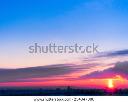 Fiery Heaven Burning Skies  - stock photo