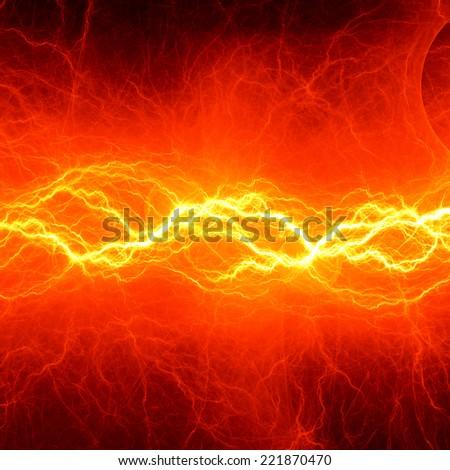 Fiery lightning - stock photo