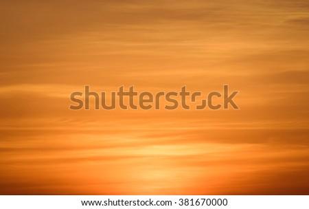 Fiery orange sunset sky. Beautiful sky , vintage tone - stock photo