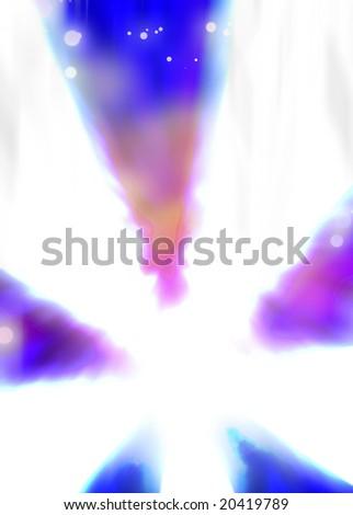 Fiery rays - stock photo