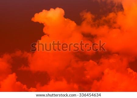 Fiery  sky. Beautiful sky - stock photo