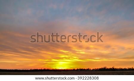 Fiery Sunset - stock photo