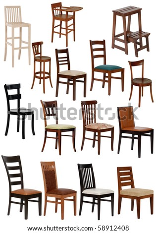 fifteen different chair - stock photo