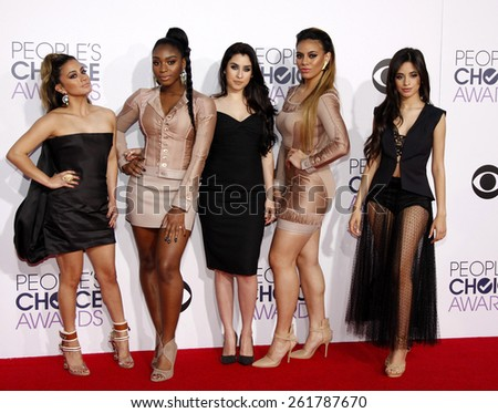 Fifth Harmony at the 41st Annual People's Choice Awards held at the Nokia L.A. Live Theatre in Los Angeles on Tuesday January 7, 2015. - stock photo