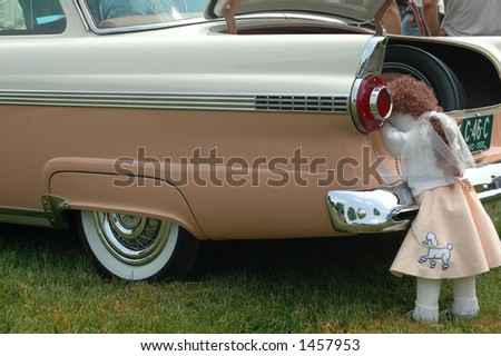 Fifties classic car - stock photo