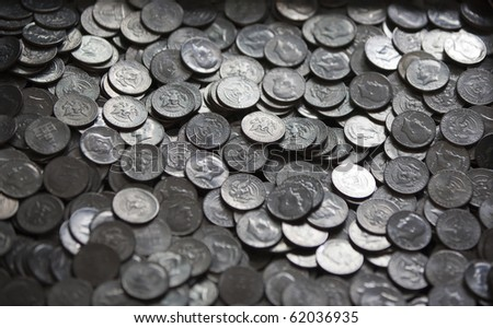 Fifty Cent Pieces - stock photo