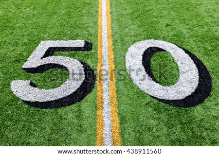 Fifty yard line detail.