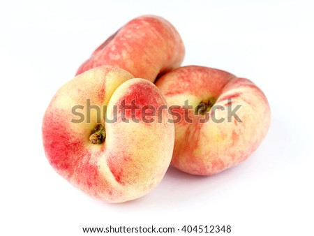 Fig peach isolated on white background - stock photo