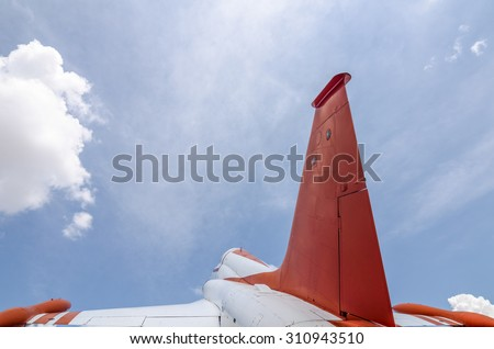 fighter jet on sky - stock photo