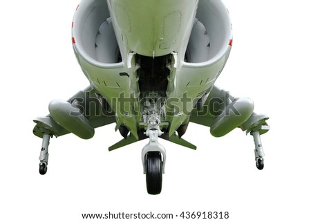 fighter jet on white background - stock photo