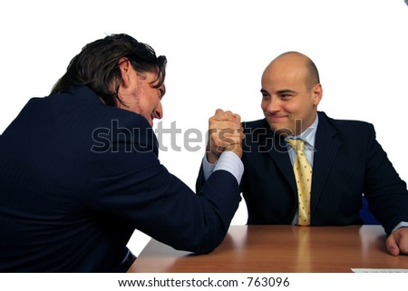 Fighting it out - stock photo