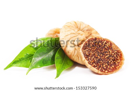 Figs close up isolated on white background - stock photo
