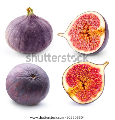Figs fruits collection - stock photo
