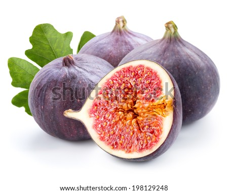 Figs fruits isolated - stock photo