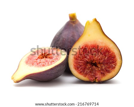 figs isolated on white background - stock photo