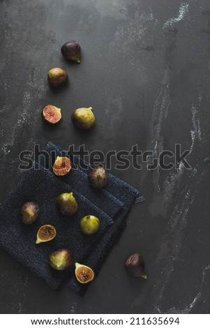 Figs on black - stock photo