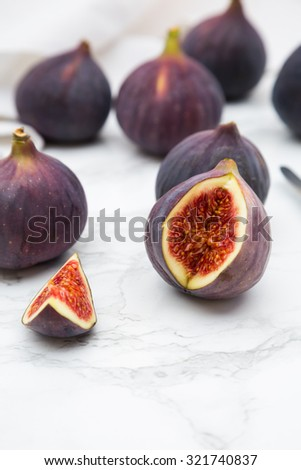 Figs on marble