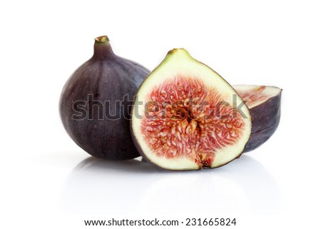 Figs on the white background - stock photo