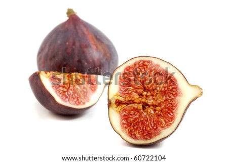 Figs on white background. Fresh and healthy fruits.
