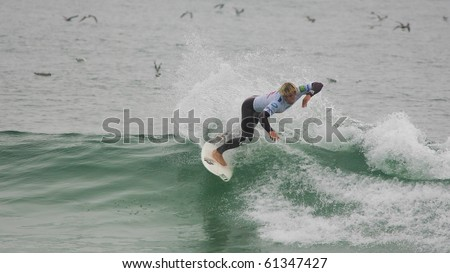 FIGUEIRA DA FOZ, PORTUGAL - SEPTEMBER 17 : Tanner Gudauskas (USA) in ASP World Qualifier 6 stars Lusiaves Figueira Pro 2010 September 17, 2010 in Figueira da Foz, Portugal