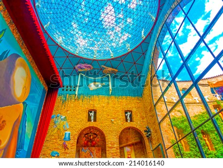 FIGUERES, SPAIN -AUG 26, 2009: Details from the interior of the famous museum - theater of Salvador Dali in Figueres, Spain on Aug 26, 2009. - stock photo